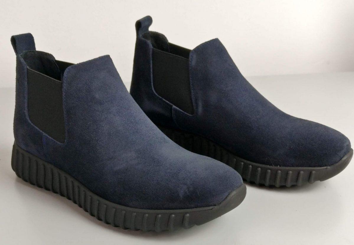 Sneakers beatles in camoscio blu