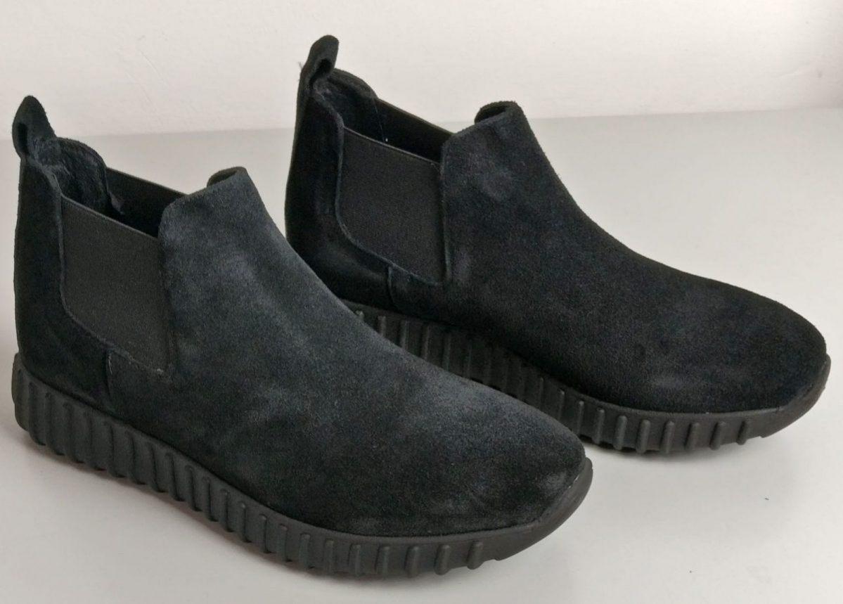 Sneakers beatles in camoscio nero