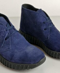 Sneakers in camoscio blu