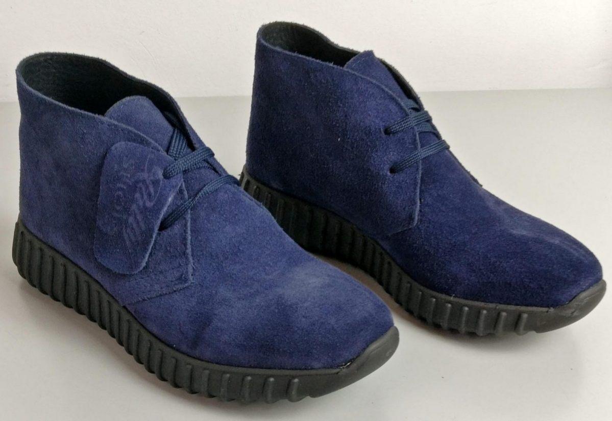 Sneakers in camoscio blu