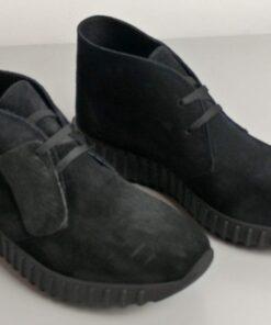 Sneakers in camoscio nero