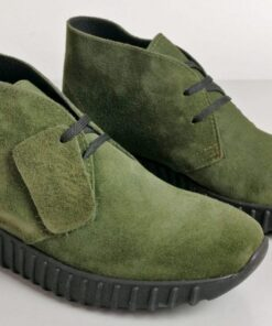 Sneakers in camoscio verde
