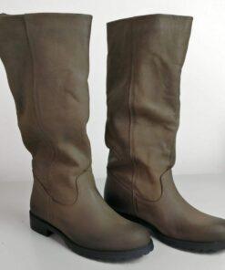 Stivali in nabuk testa di moro