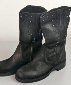 Stivali con applicazioni colore nero