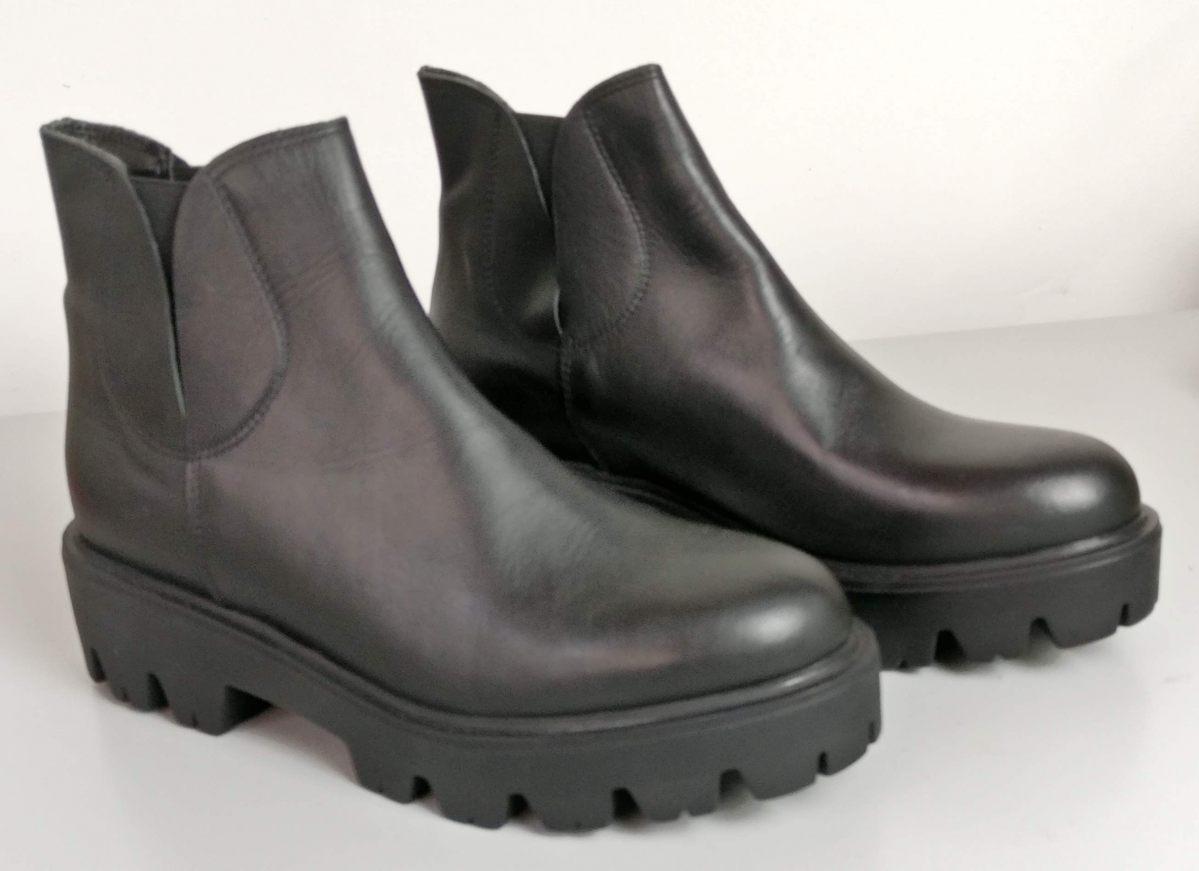 In Shoes Suola Stivaletti Patty Carrarmato Con Pelle Liscia Nera 7WxWdCqUwf