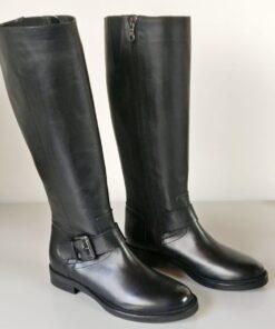 Stivali vitello nero cavallerizzo